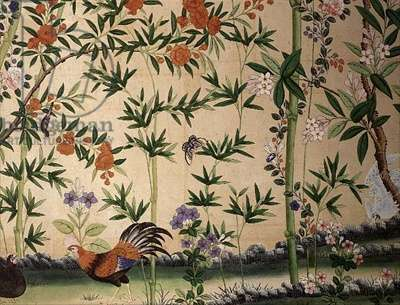 Chinese wallpaper from the King's Rooms, Belvoir Castle