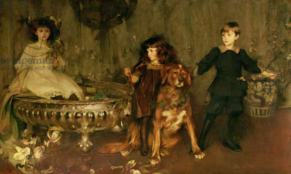 Lord John Manners, Lord Haddon and Lady Marjorie Manners (oil on canvas)
