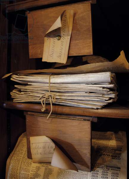 Documents in the Muniment Room (photo)