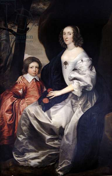 John Manners as a boy with his mother Frances, Countess of Rutland, c.1646 (oil on canvas)