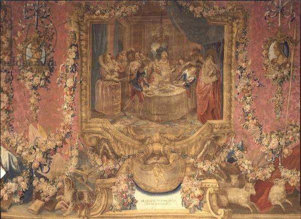 Scene from Don Quixote, tapestry from the Regent's Gallery