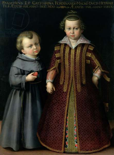 Francesco and Caterina de Medici (tempera on canvas)