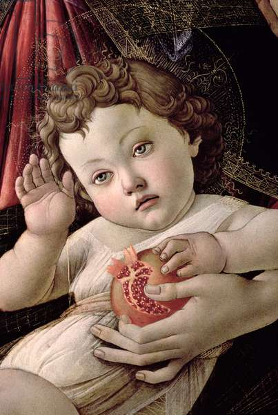Detail of the Christ Child from the Madonna of the Pomegranate (tempera on panel) (see 44340)