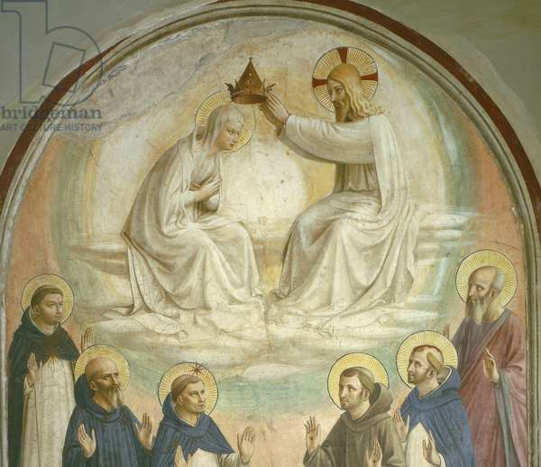 The Coronation of the Virgin, with Saints Thomas, Benedict, Dominic, Francis, Peter the Martyr and Paul, 1442 (fresco) (detail  of 43883)