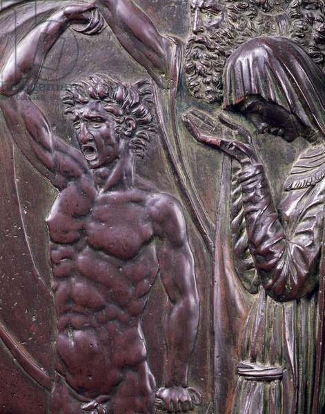 Perseus Rescuing Andromeda, detail of a screaming man (bronze)