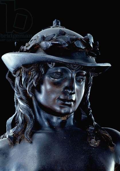 David, detail of head, c.1440 (bronze) (see also 11969-70)