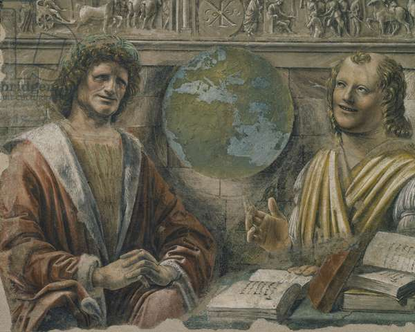 Heraclitus (c.535-c.475 BC) and Democritus (c.460-c.370 BC) from a fresco originally in the 'Sala dei Baroni' of Palazzo Panigarola, c.1500 (fresco)