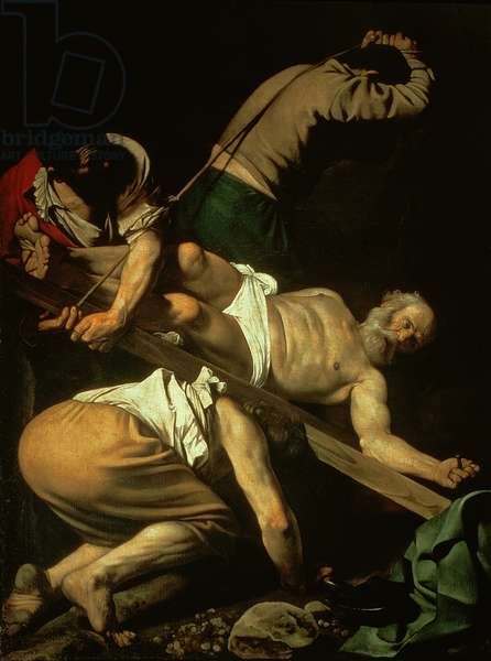 The Crucifixion of St. Peter, 1600-01 (oil on panel)