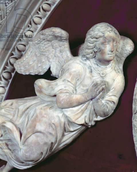 Tomb of Filippo Strozzi (1428-91) in the Strozzi Chapel, detail of an angel, 1491-95 (marble) (detail of 208700)