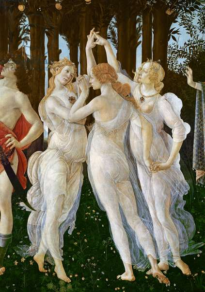Primavera, c.1478,(tempera on panel) (detail of 558)