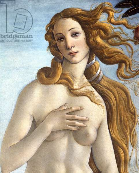 The Birth of Venus, c.1485 (tempera on canvas) (detail of 412)