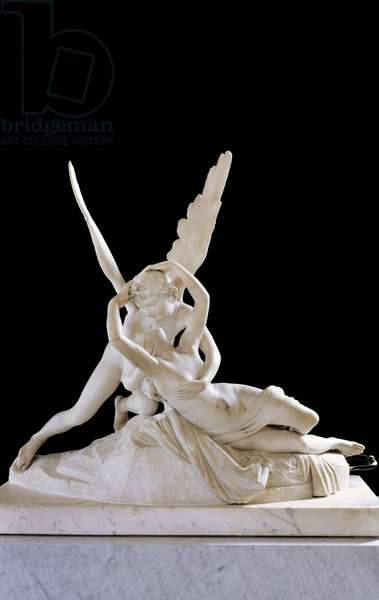 Psyche Revived by the Kiss of Cupid 1787 (marble) (for detail see 27638) (see also 154097)