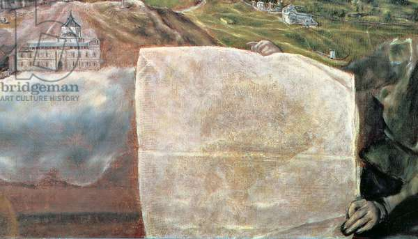 View and Map of the Town of Toledo (oil on canvas) (detail of 124615)