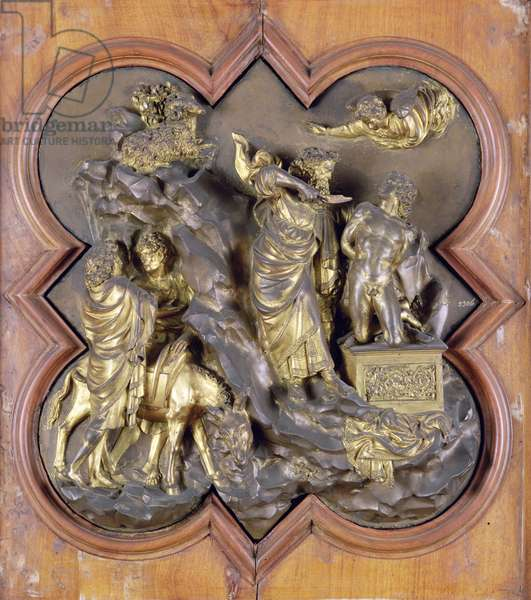 The Sacrifice of Isaac, bronze competition relief for the Baptistry Doors, Florence, 1401 (bronze)
