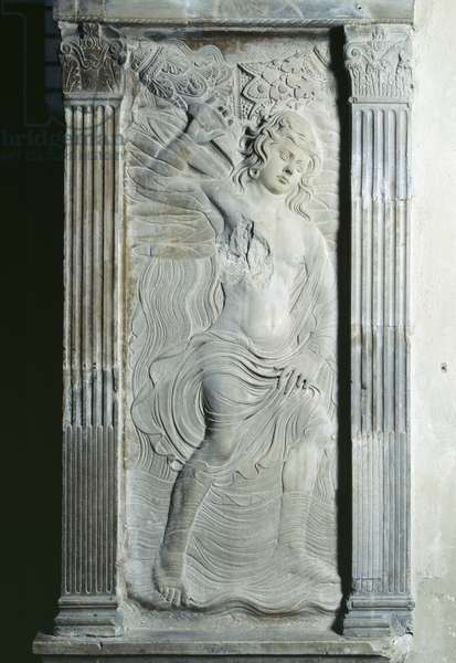 Aquarius, relief from the Chapel of the Planets by Agostino di Duccio (1418-81), c.1450 (marble)