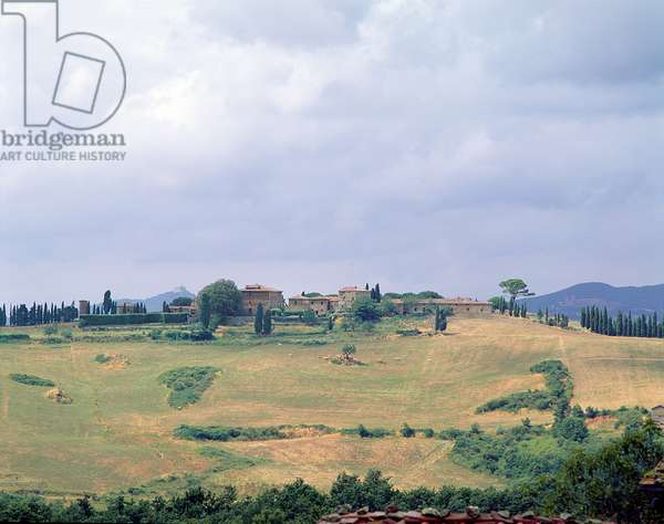 View of Villa dell'Anqua and the surrounding countryside (photo)