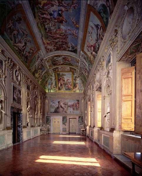 The 'Galleria di Carracci' (Carracci Hall) decorated with frescoes by Annibale Carracci (1560-1609) 1597-1603 (photo)