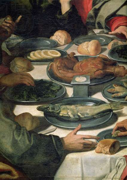The Last Supper, detail of the food (detail of 85152)