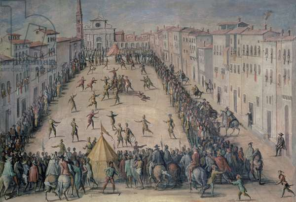 A Game of Football in the Piazza Santa Maria Novella, Florence, 1555 (fresco)