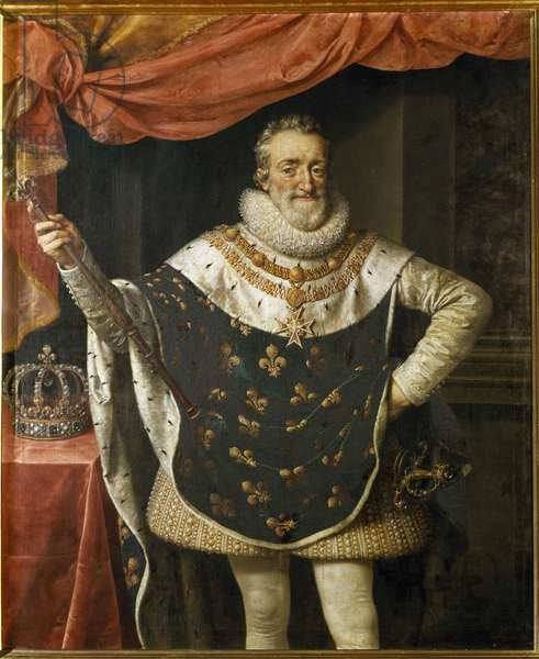 Portrait of Henry IV King of France. (Painting, 17th century)
