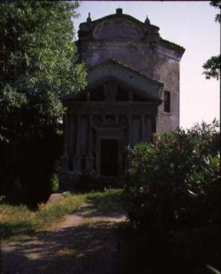Exterior view of a chapel, possibly designed by Giacomo Vignola (1507-73) (photo)