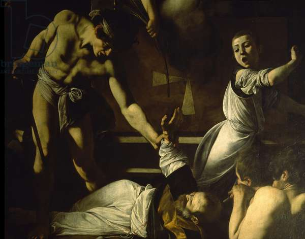 The Martyrdom of St. Matthew, detail, 1599-1600 (oil on canvas)