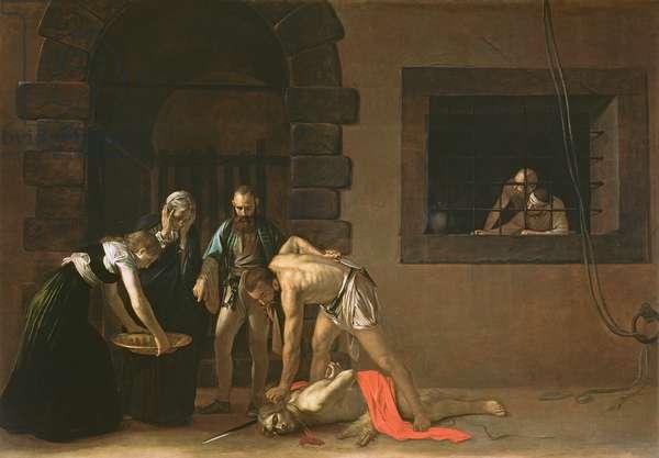 The Decapitation of St. John the Baptist, 1608 (oil on canvas)