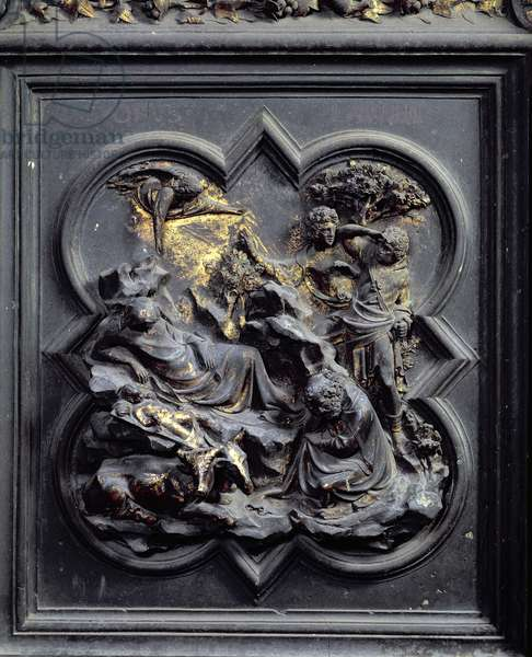 The Nativity, second panel of the North Doors of the Baptistery of San Giovanni, 1403-24 (bronze)