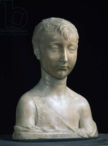 St. John the Baptist as a boy, bust by Antonio Rossellino (1427-79) (marble) (see also 79877)