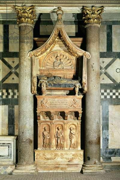 View of the tomb of Pope John XXIII (c.1370-1419)