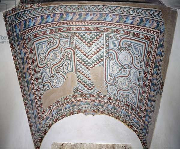 View of the barrel vault in the Presbytery, 5th century (mosaic)