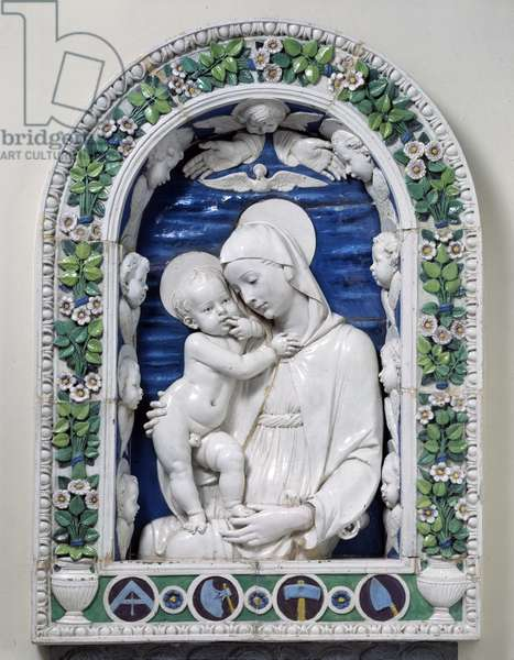 The Madonna and Child (The Madonna of the Architects) (glazed terracotta)
