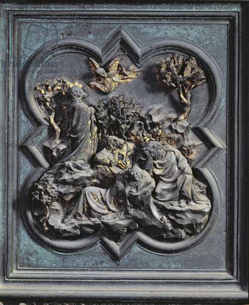 Agony in the Garden, thirteenth panel of the North Doors of the Baptistery of San Giovanni, 1403-24 (bronze)