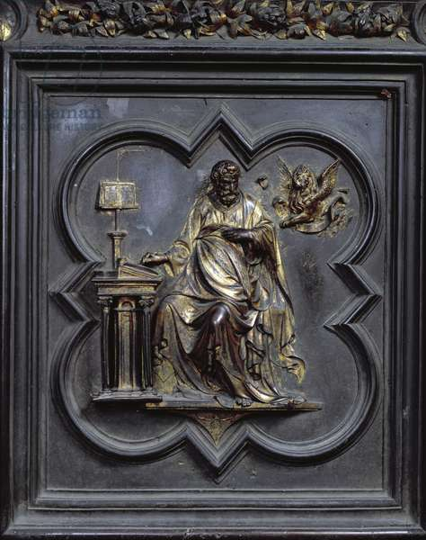 St Mark the Evangelist, panel D of the North Doors of the Baptistery of San Giovanni, 1403-24 (bronze)