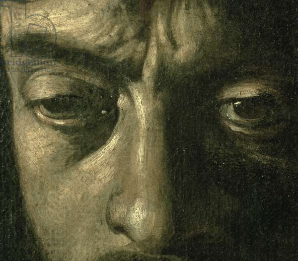 David with the Head of Goliath, 1606 (oil on canvas) (detail of 100350)