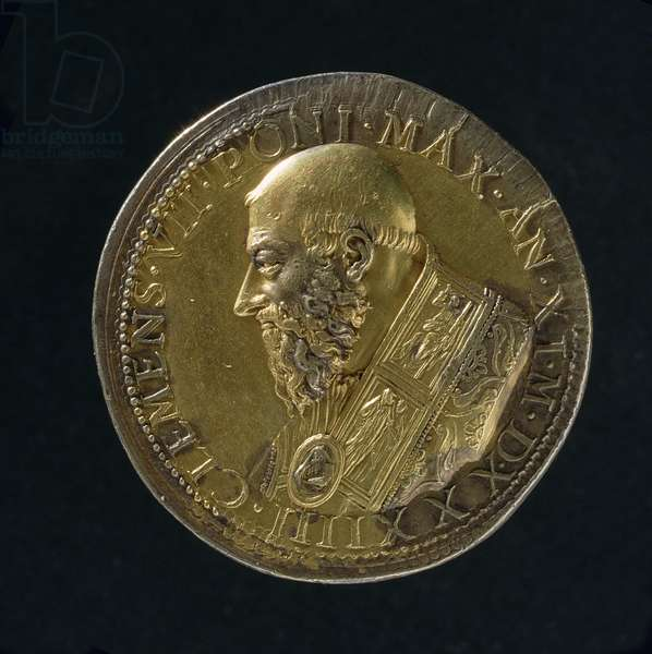 Portrait medal of Clement VII (1523-34) 1533 (bronze) (for recto see 108639)
