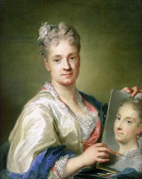Self Portrait, 1709 (pastel on paper)