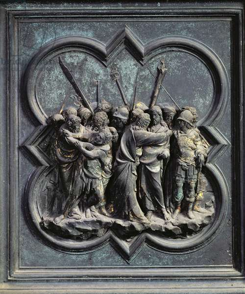 The Capture of Christ, fourteenth panel of the North Doors of the Baptistery of San Giovanni, 1403-24 (bronze)
