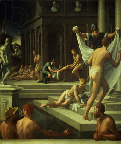 The Baths of Pozzuoli, 1572 (oil on slate)