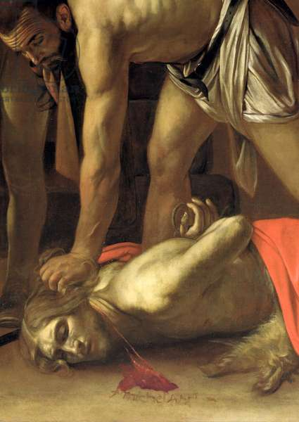 The Decapitation of St. John the Baptist, 1608 (oil on canvas) (detail of 127654)