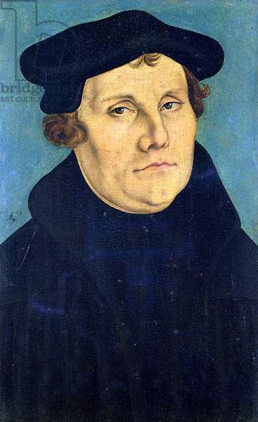 Portrait of Martin Luther (1483-1546) 1529 (oil on panel)