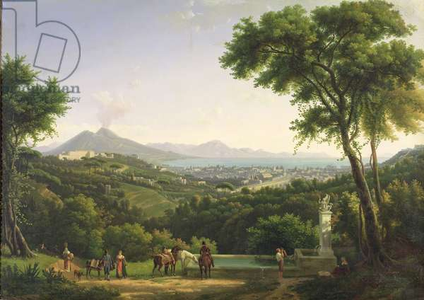 View of Naples from Capodimonte, 1813 (oil on canvas)