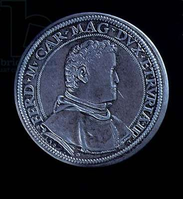 Portrait medal of Ferdinand I (1503-64) 1587, recto (silver plate) (for verso see 119196)