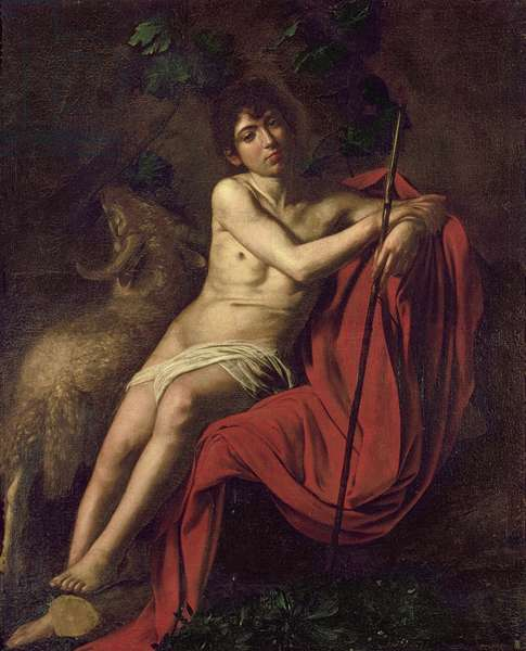 St. John the Baptist in the Wilderness, c.1610 (oil on canvas)