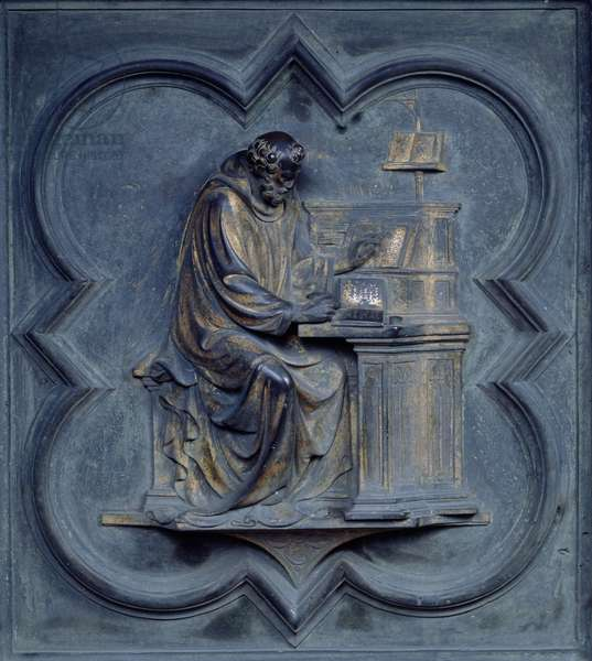 St Jerome, panel F of the North Doors of the Baptistery of San Giovanni, 1403-24 (bronze)