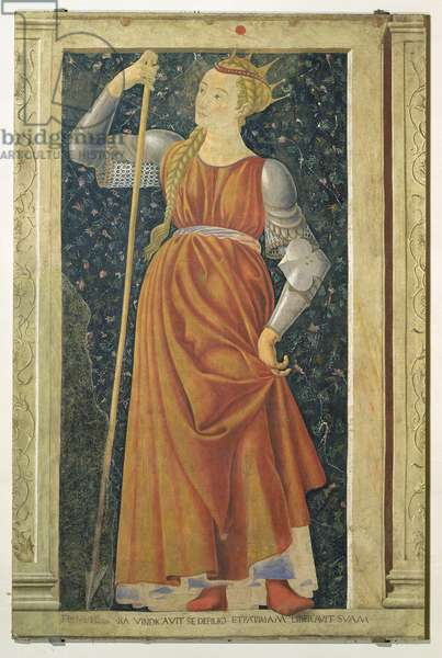 Queen Tomyris, from the Villa Carducci series of famous men and women, c.1450 (fresco)