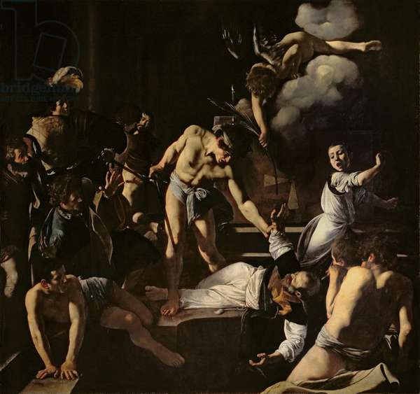 The Martyrdom of St. Matthew, 1599-1600 (oil on canvas)