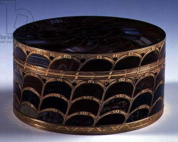 Jewellery box, Italian (gold and semi-precious)