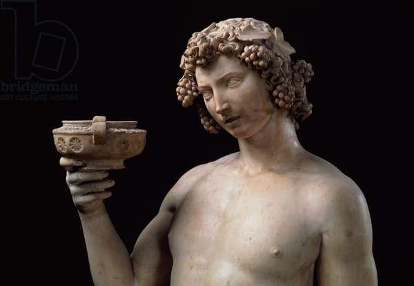 Bacchus, detail, 1497 (marble)