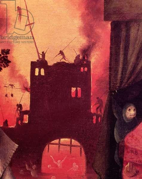 Tondal's Vision, detail of the burning gateway (panel) (detail of 61761)